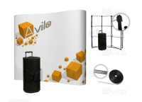 POP UP Wall - 3x3 / CURVED (Small Trolley Case)