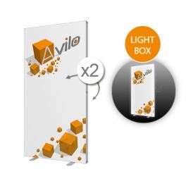 Messewand SEG - LIGHT BOX (LED) (Stoff) - 100x200 cm