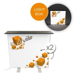Messetheke / Promotiontheke SEG - LIGHT BOX (LED) (Stoff)